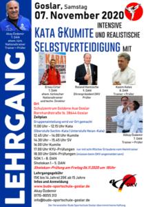Lehrgang Kata, Kumite und SV mit Dan-Prüfungen @ Goslar